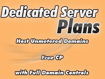 Modestly priced dedicated web hosting package